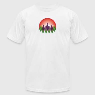 geometric mountain sunrise - Men's T-Shirt by American Apparel