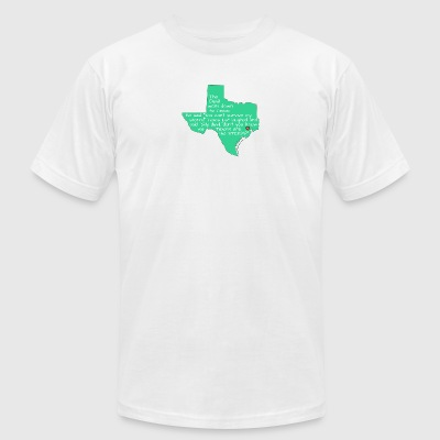 The Devil and Texas - Men's T-Shirt by American Apparel
