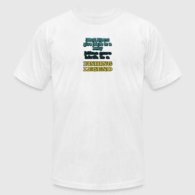 Fishing Legend - Men's T-Shirt by American Apparel