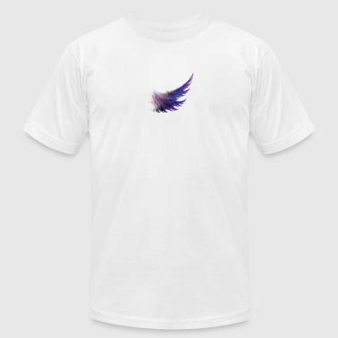 awesome purple wings - Men's T-Shirt by American Apparel