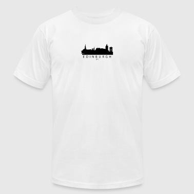 Edinburgh Scotland UK Skyline - Men's T-Shirt by American Apparel