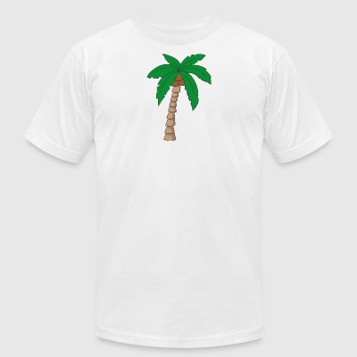 palm tree - Men's T-Shirt by American Apparel