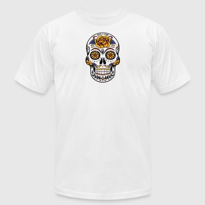 Mexican Skull - Men's T-Shirt by American Apparel