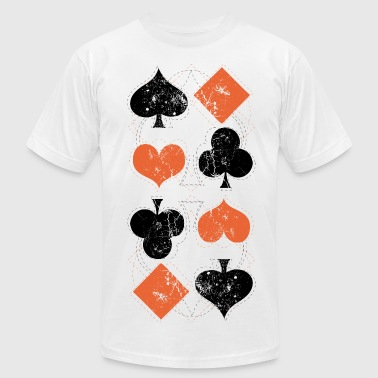 vintage poker playing cards - Men's Fine Jersey T-Shirt