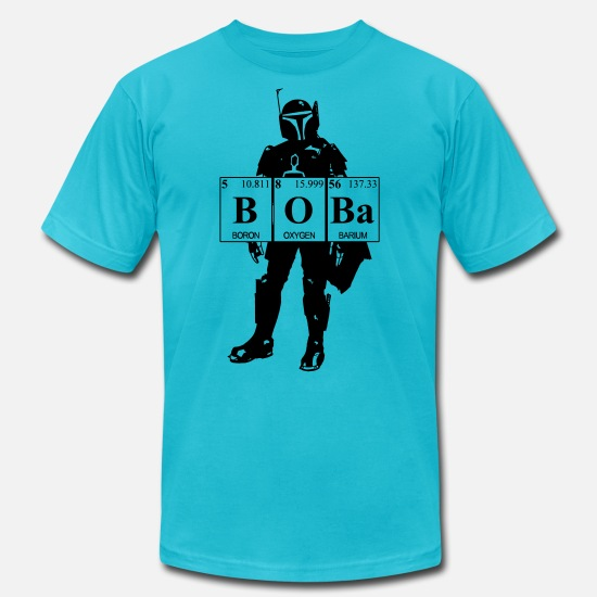 Geek T-Shirts - bobaelements - Unisex Jersey T-Shirt turquoise