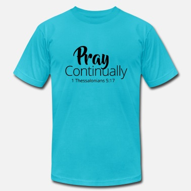 Pray Continually - White - Men's Jersey T-Shirt