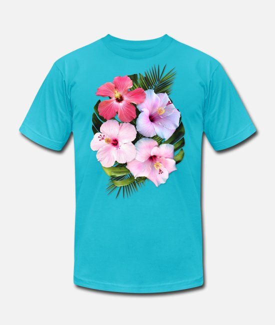 Nature T-Shirts - AD Flowers - Unisex Jersey T-Shirt turquoise