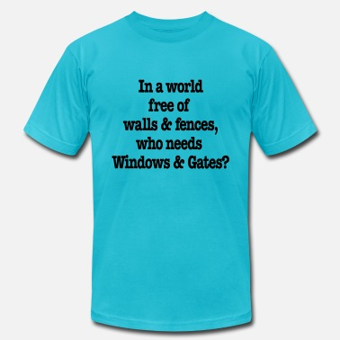 Geek Windows & Gates - Unisex Jersey T-Shirt