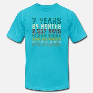 cc8a32ec 7 Years Old 7th Birthday Boy Girl Anniversary - Men's Jersey T