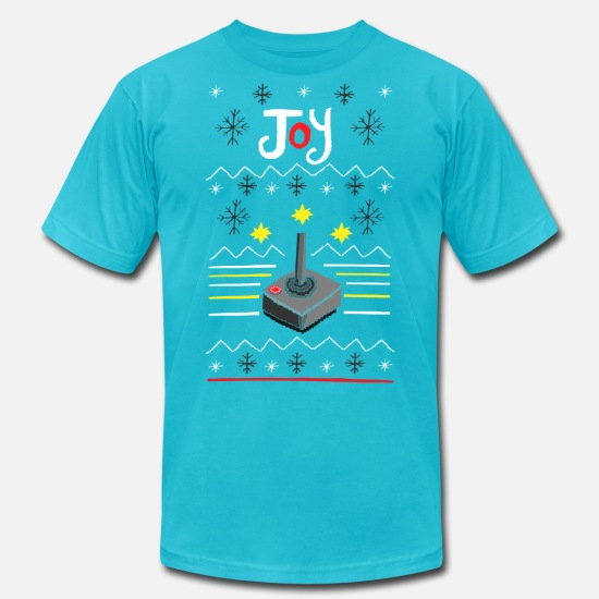 Christmas T-Shirts - Ugly Sweater - Geek - Unisex Jersey T-Shirt turquoise