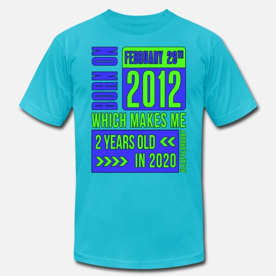 Birthday T-Shirts - 2 years old - Men's Jersey T-Shirt turquoise