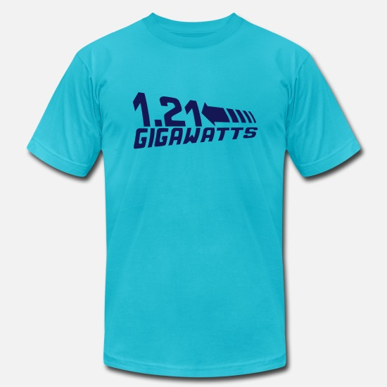 To T-Shirts - 1.21 Gigawatts - Men's Jersey T-Shirt turquoise