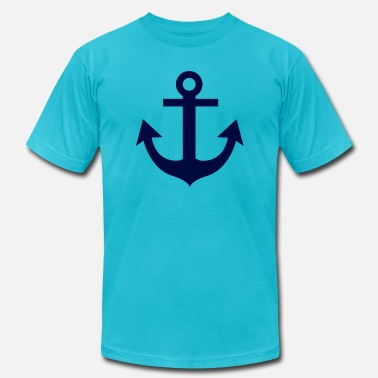 Nautical Nautical Anchor Blue - Unisex Jersey T-Shirt