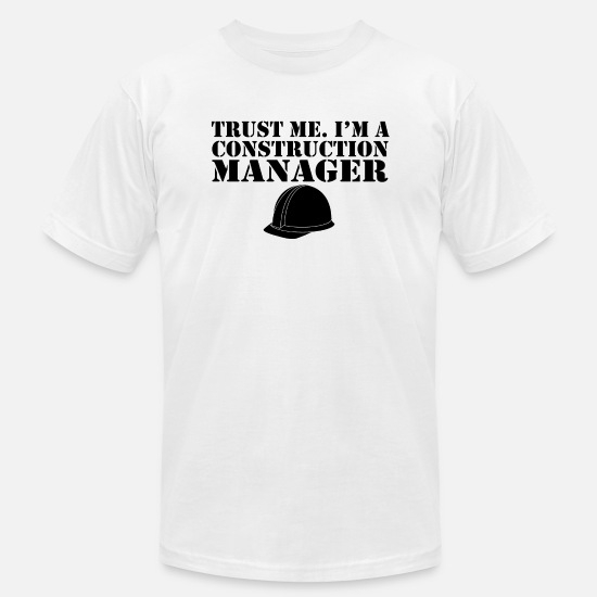 Construction T-Shirts - construction manager - Men's Jersey T-Shirt white