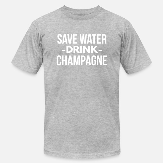 Save T-Shirts - Save water drink Champagne - Men's Jersey T-Shirt heather gray