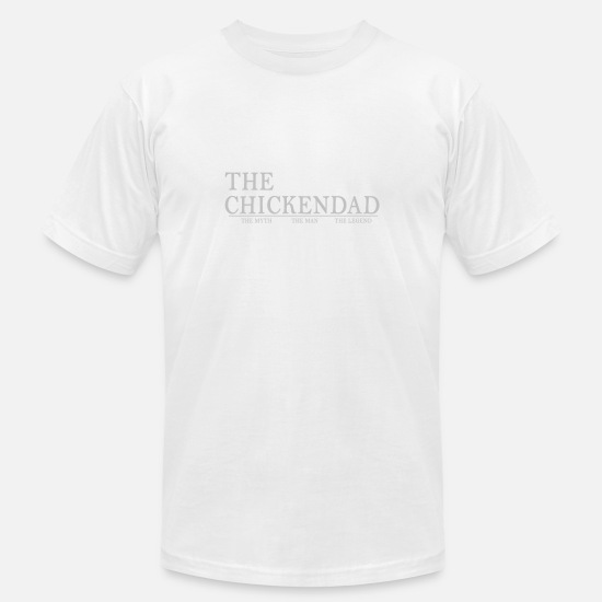 Gift Idea T-Shirts - The Chickendad. The Myth. The Man. The Legend. - Men's Jersey T-Shirt white