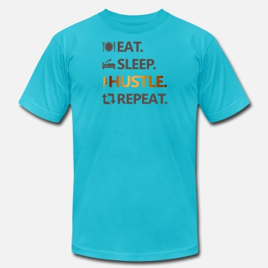 Selfemployed Eat. Sleep. Hustle. Repeat - Men's Jersey T-Shirt
