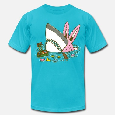 Easter The Easter Shark, Funny Easter,Cute Bunny In Shark - Men's  Jersey T-Shirt