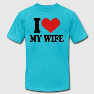 I love my wife - Men's Fine Jersey T-Shirt