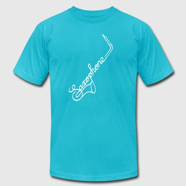The Saxophone - Men's Fine Jersey T-Shirt