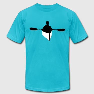 kayaking, kayaker - Men's Fine Jersey T-Shirt