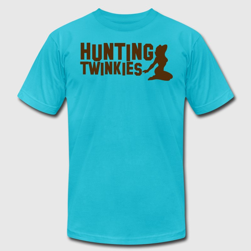 hunting twinkies teenage girls NSFW - Men's Fine Jersey T-Shirt