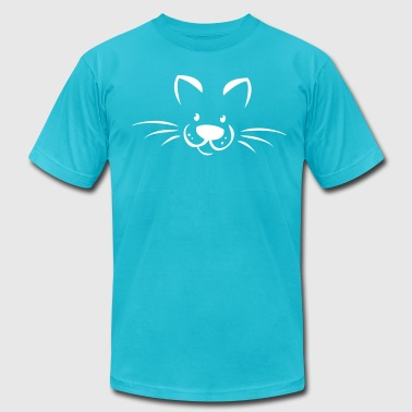 cute kitty face - Men's Fine Jersey T-Shirt