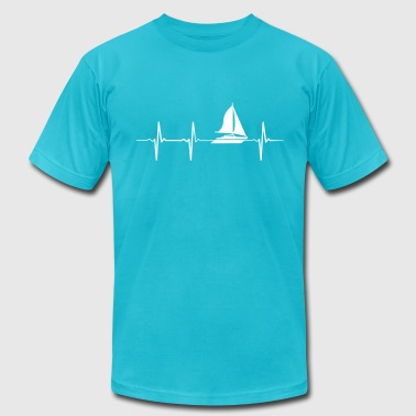 Heartbeat Sailing - Men's Fine Jersey T-Shirt