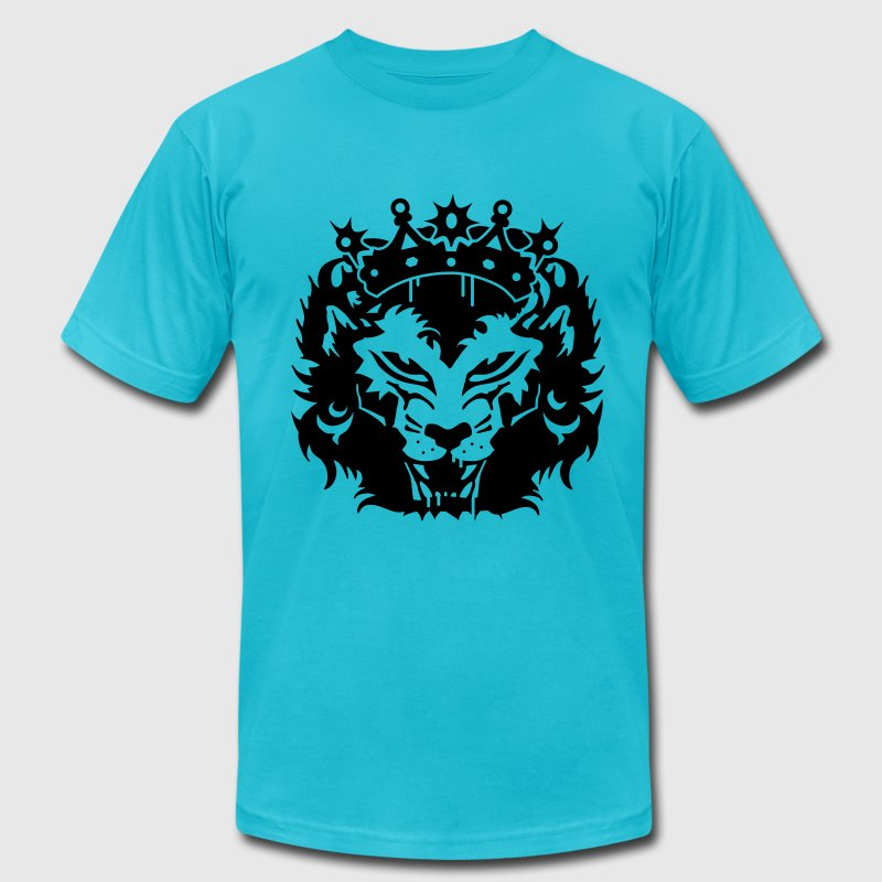 The lion's head with crown - Men's Fine Jersey T-Shirt