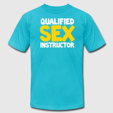 QUALIFIED SEX INSTRUCTOR - Men's Fine Jersey T-Shirt