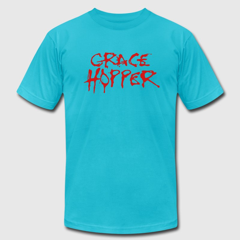 Grace Hopper / Alice Cooper - Men's Fine Jersey T-Shirt