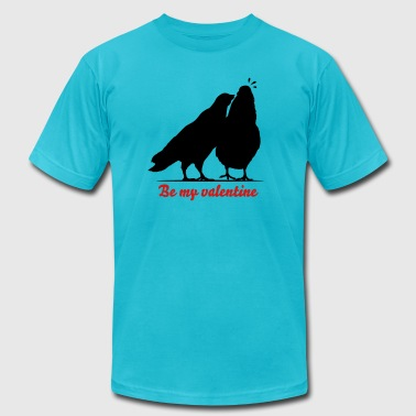 Valentines Dove Couple_1_1c - Men's Fine Jersey T-Shirt