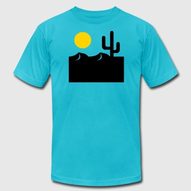desert sunset - Men's Fine Jersey T-Shirt