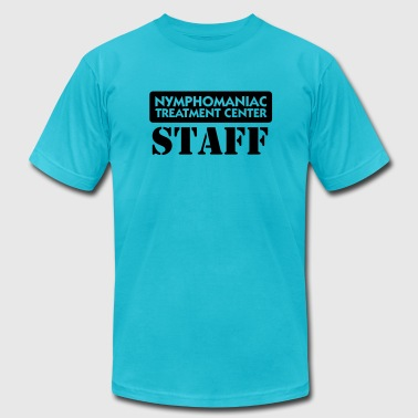 Nymphomaniac Center Staff (1c) - Men's Fine Jersey T-Shirt