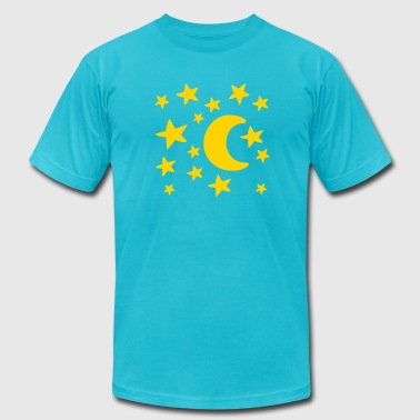 Moon stars - Men's Fine Jersey T-Shirt