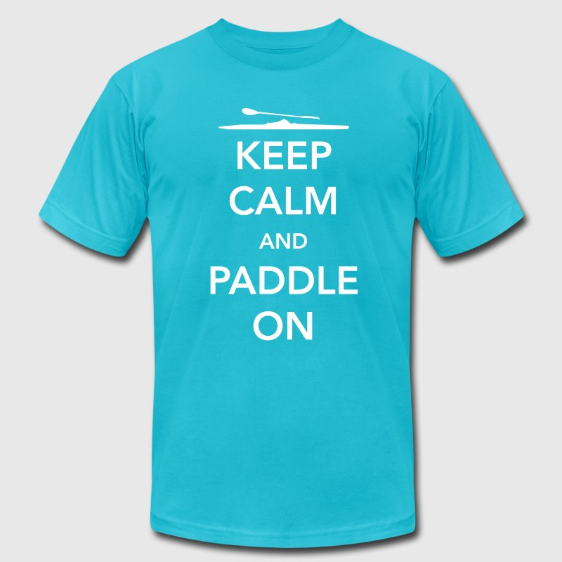 Keep Calm and Paddle On - Men's Fine Jersey T-Shirt
