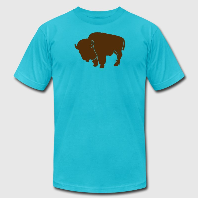 wildlife: the bison - Men's Fine Jersey T-Shirt