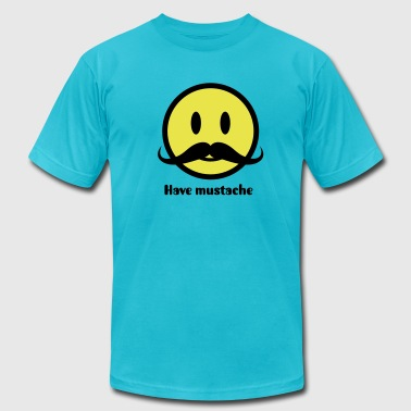 Mustache Smiley Icon 2c - Men's Fine Jersey T-Shirt