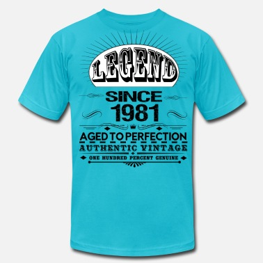 1981 LEGEND SINCE 1981 - Men's  Jersey T-Shirt