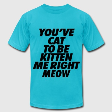 You've Cat To Be Kitten Me Right Meow - Men's Fine Jersey T-Shirt