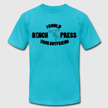 Bench Press - Men's Fine Jersey T-Shirt