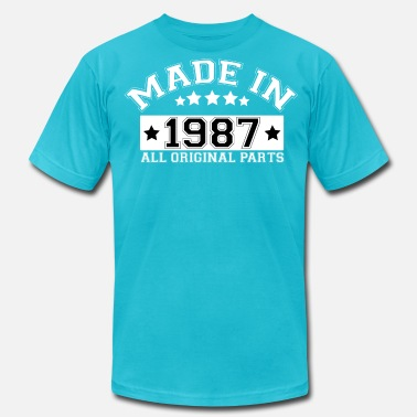 1987 All Original Parts MADE IN 1987 ALL ORIGINAL PARTS - Men's  Jersey T-Shirt