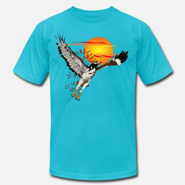 African Studies Augur meeting the morning sun.  - Men's Fine Jersey T-Shirt