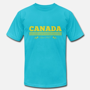 Canada 1867 golden CANADA since 1867 - Men's Fine Jersey T-Shirt