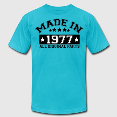 Made In 1977 All Original Parts MADE IN 1977 ALL ORIGINAL PARTS - Men's Fine Jersey T-Shirt