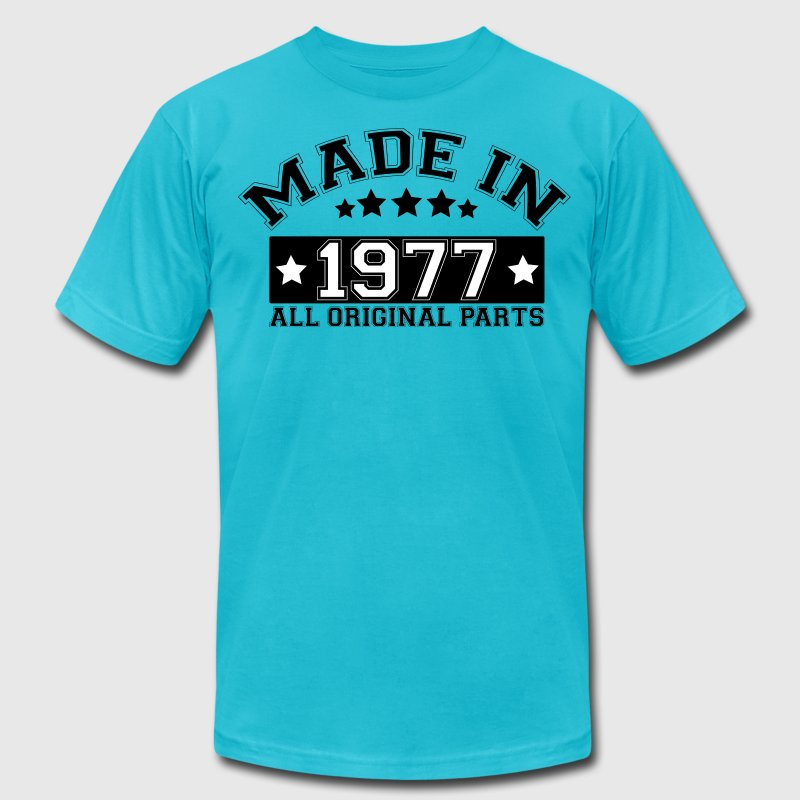 MADE IN 1977 ALL ORIGINAL PARTS - Men's Fine Jersey T-Shirt
