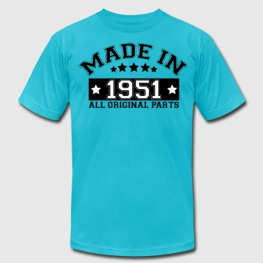Built In 1951 MADE IN 1951 ALL ORIGINAL PARTS - Men's Fine Jersey T-Shirt