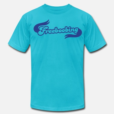 Women-underwear freeboobing (wearing no bras or underwear.. probably not safe for work) - Men's  Jersey T-Shirt