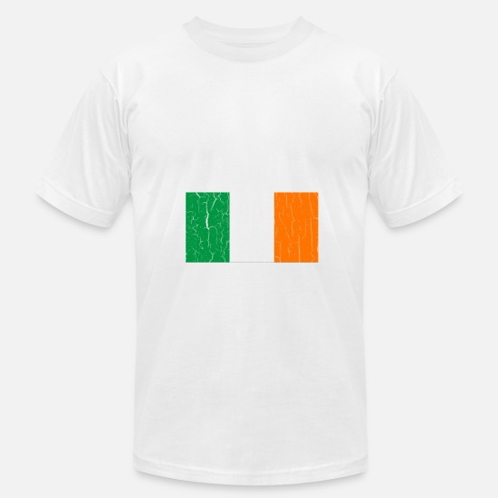 Irish T-Shirts - Vintage IRISH Flag - Men's Jersey T-Shirt white