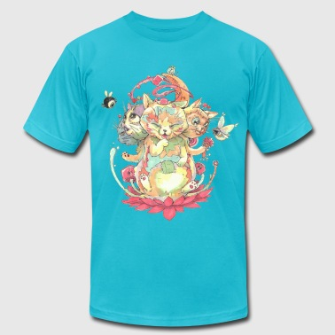 Contraption Brahma Neko - Men's Fine Jersey T-Shirt